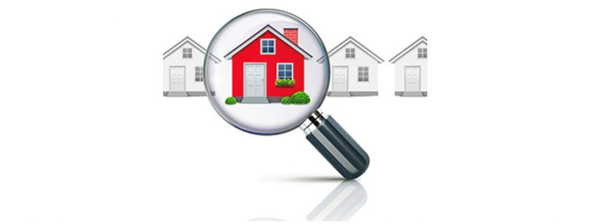 Home under magnifying glass